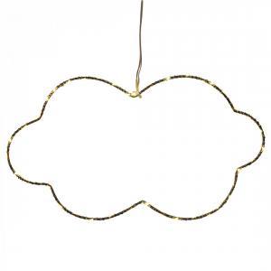 Opjet - 011675 - Déco lumineuse nuage 40 LED blanches (31cm - H. 18cm) (370090)