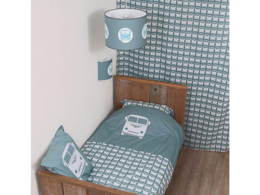 taftan drap housse little van stone green 90 x 200. Black Bedroom Furniture Sets. Home Design Ideas