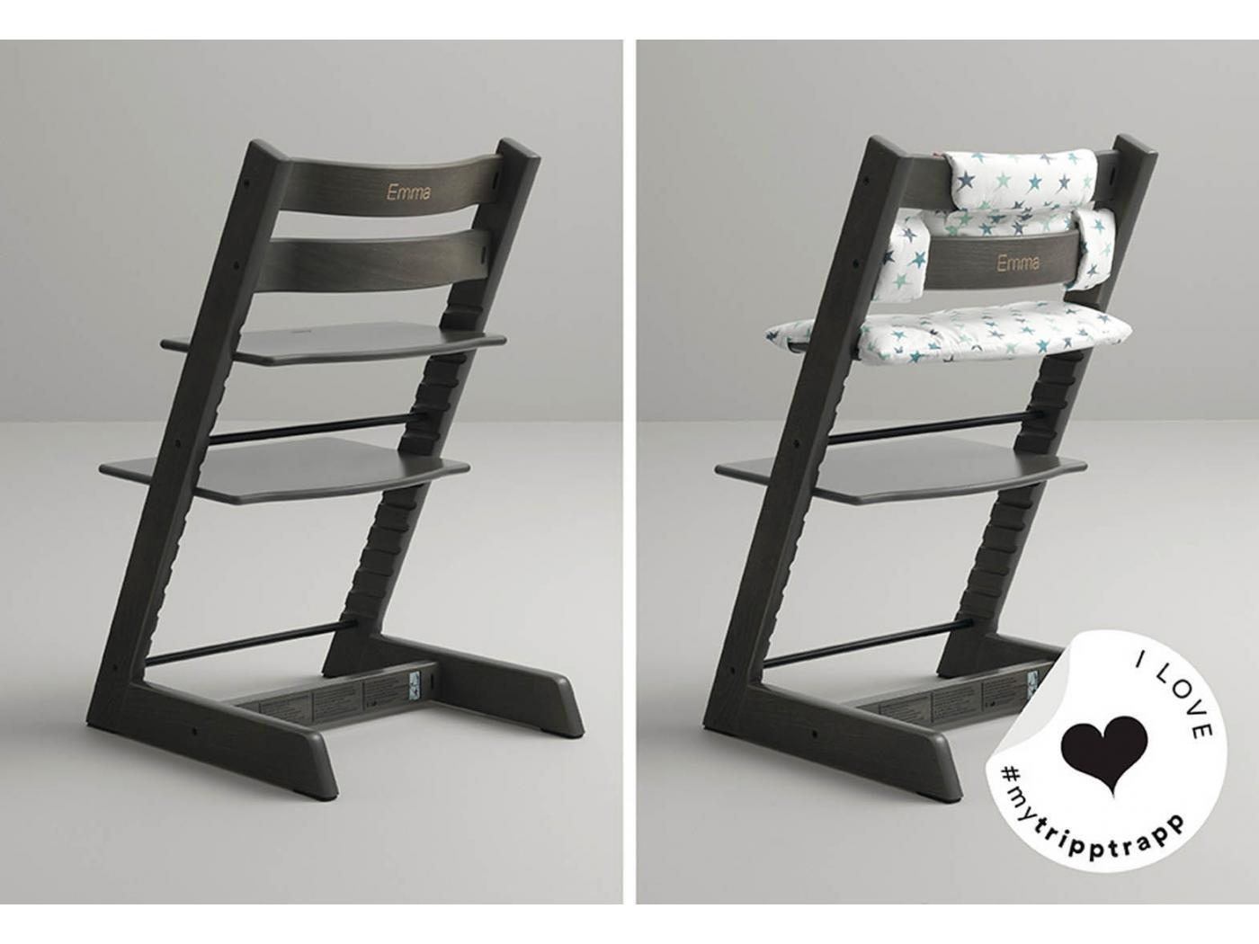 /Chaise haute /évolutive Tripp Trapp/® Noir Stokke/