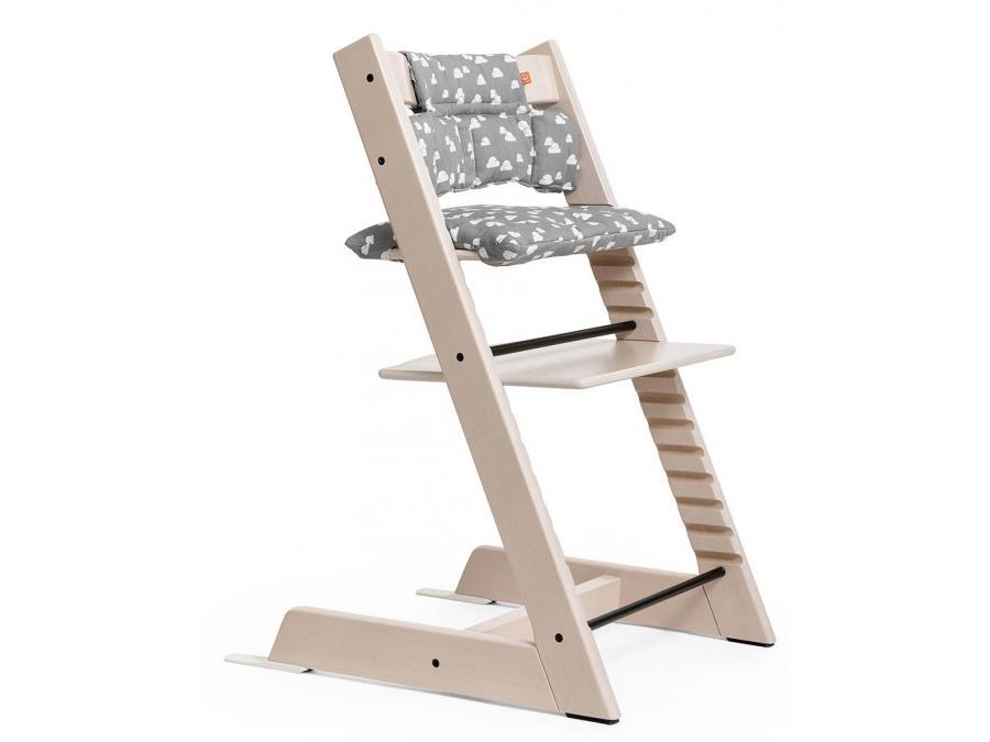 Stokke chaise haute tripp trapp blanchi personnalisable - Harnais chaise tripp trapp ...