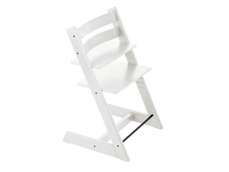 Stokke chaise haute tripp trapp blanc personnalisable for Chaise haute tripp trapp grise