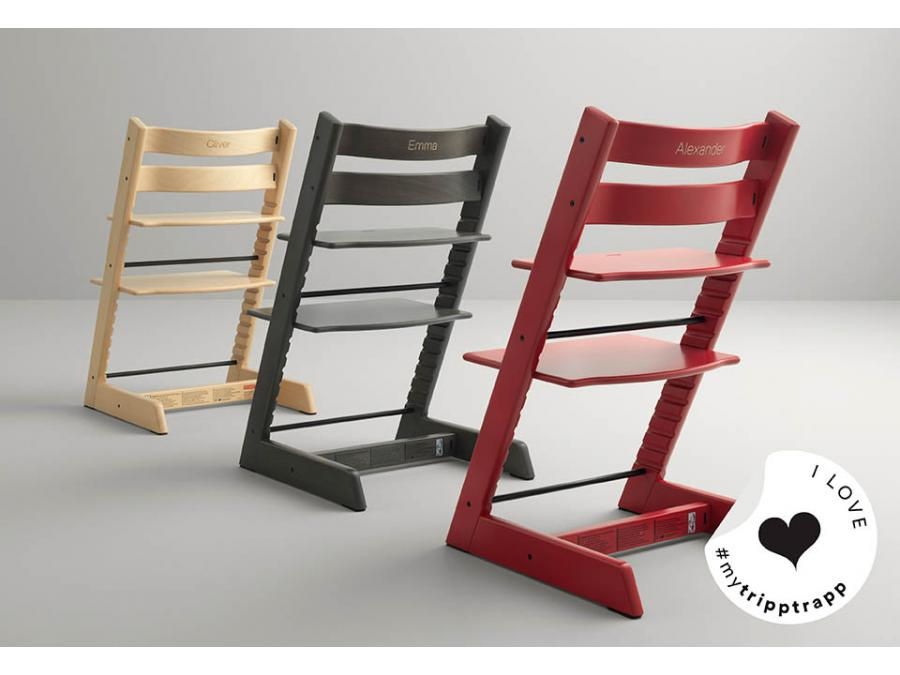 Stokke chaise haute tripp trapp ch ne blanc personnalisable - Chaise haute tripp trapp ...