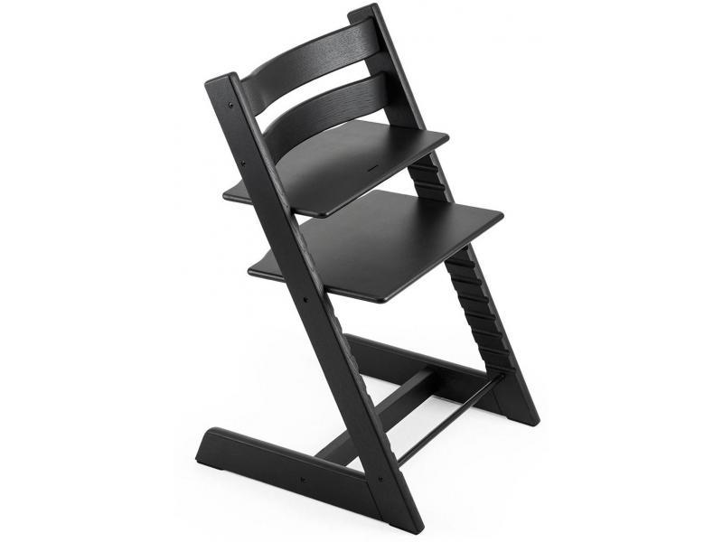 Stokke chaise haute tripp trapp ch ne noir personnalisable for Chaise stokke