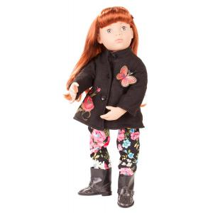 Gotz - 1866253 - Poupée articulée 50 cm - Happy Kidz Clara, cheveux acajou rouge, yeux gris pierre (371804)
