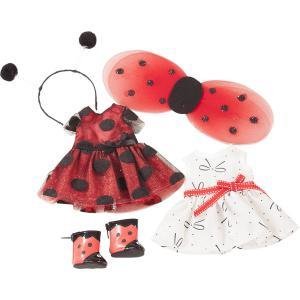 Gotz - 3402963 - Ensemble Just Like Me, ladybug, 6 pièces pour poupées de 27 cm (371902)
