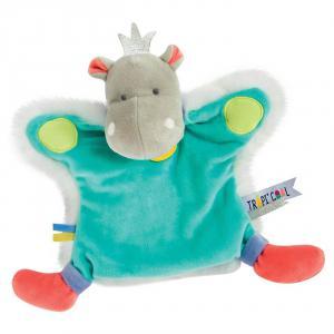 Doudou et compagnie - DC3322 - Marionnette - hippo - taille 25 cm (372204)