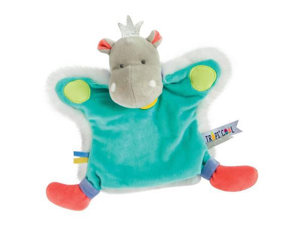 Marionnette - hippo - taille 25 cm