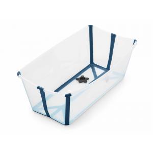 Stokke - 328809 - Baignoire compacte FlexiBath Transparent bleu (372590)