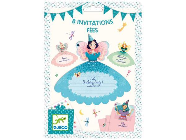 Fêtes - anniversaires - cartes d'invitation fées *