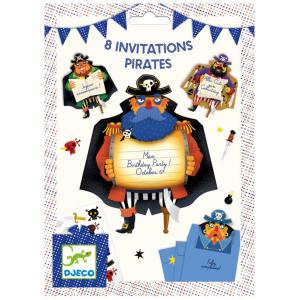Djeco - DJ04784 - Fêtes - Anniversaires -  Cartes d'invitation Pirates * (372678)