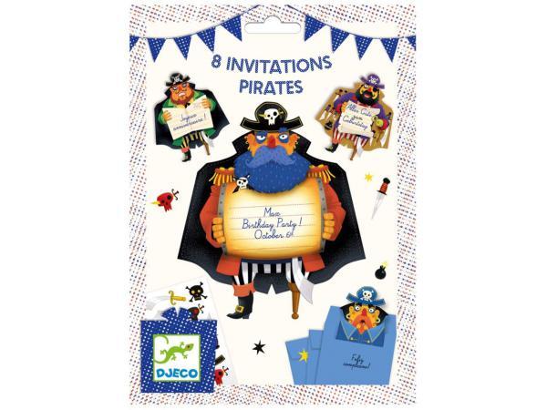 Fêtes - anniversaires - cartes d'invitation pirates *