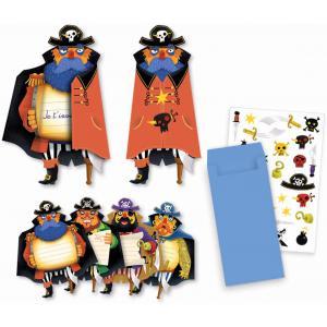 Djeco - DJ04784 - Fêtes - Anniversaires -  Cartes d'invitation Pirates * (372678)
