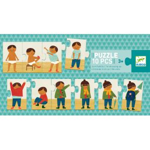 Djeco - DJ08178 - Puzzle duo-trio - Puzzle je m'habille (372796)