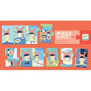 Djeco - DJ08179 - Puzzle duo-trio - Puzzle la journée (372798)