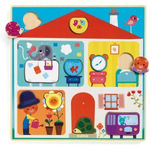 Djeco - DJ01519 - Puzzle éducatif bois - Swapy (372800)