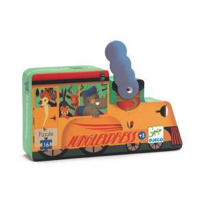 Djeco - DJ07267 - Puzzle silhouettes La locomotive - 16 pièces (372836)