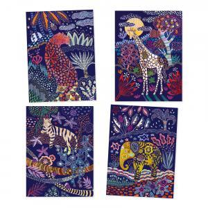 Djeco - DJ09728 - Carte à gratter - Nature luxuriante (372854)