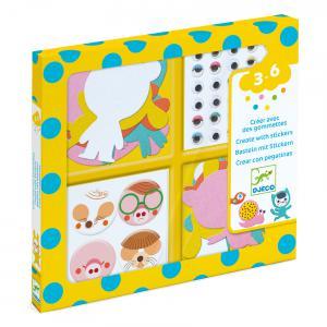 Djeco - DJ09050 - Gommettes et stickers - J'aime les animaux (372878)