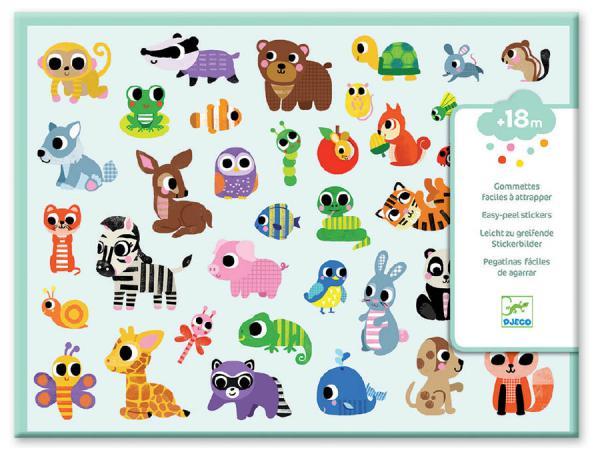 Gommettes et stickers - bébés animaux