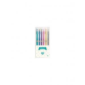 Djeco - DD03755 - Crayons / Marqueurs / Stylos - Stylos gel pailletés (373004)