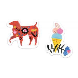 Djeco - DD03711 - Décalcos / Stickers - Aïko - 50 Stickers (373024)