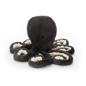 Jellycat - ODL2INK - Peluche Inky Octopus/Pieuvre Little - Noir 23cm (373816)
