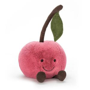 Jellycat - A2CH - Peluche Cerise Amusant Fruit - 23 cm  (373880)
