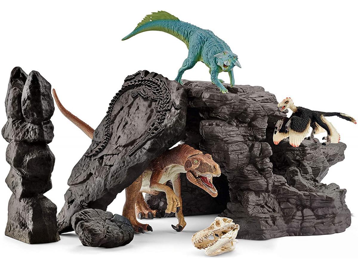 Schleich kit de dinosaures avec grotte - Liste des dinosaures carnivores ...