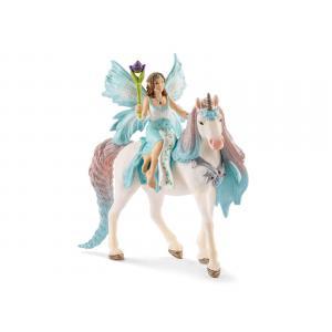 Schleich - 70569 - Figurine Fée Eyela avec licorne de princesse 15 cm x 8,2 cm x 18 cm (374016)