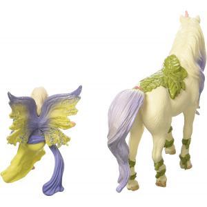 Schleich - 70565 - Figurine Fée Sera avec la licorne aux fleurs 15 cm x 8,2 cm x 18 cm (374024)