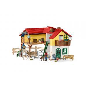 Schleich - 42407 - Ferme avec étable et animaux (374078)