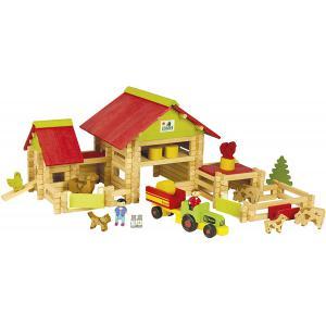 Jeujura - 8059 - Grande ferme avec tracteur et animaux- 220 pièces (375358)