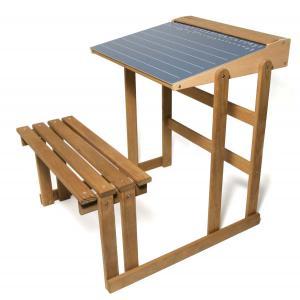 Jeujura - 8862 - Bureau d'écolier en bois - teinté chêne (375416)