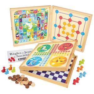 Jeujura - 8119 - Coffret de jeux classiques - 50 règles - pions bois (375436)