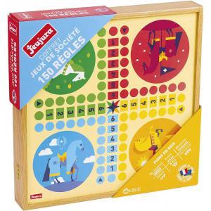 Jeujura - 8124 - Coffret de jeux classiques - 150 régles - pions bois (375440)