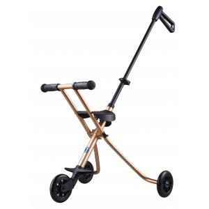Micro - TR0006 - Micro Trike Deluxe - Le porteur enfant ultra compact - Doré - comprend lanières d'attache sur siège (375506)