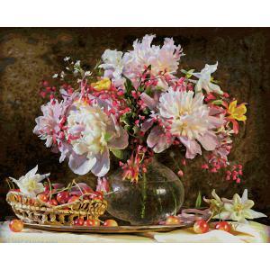 Schipper - 609130773 - Peinture aux numéros - Bouquet de fleurs avec cerises 40x50cm (375614)