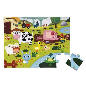 Janod - J02772 - Puzzle tactile 'les animaux de la ferme' - 20 pièces (376030)