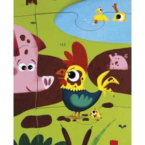 Janod - J02772 - Puzzle tactile 'les animaux de la ferme' - 20 pcs (376030)