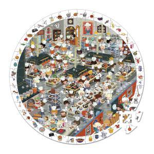 Janod - J02794 - Puzzle d'observation rond - coup de feu en cuisine - 208 pièces (376054)