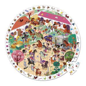 Janod - J02796 - Puzzle d'observation rond - au galop - 208 pièces (376056)
