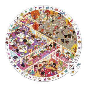 Janod - J02797 - Puzzle d'observation rond - vive l'école - 208 pièces (376058)