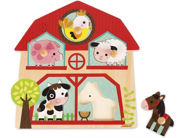 Puzzle musical - les copains de la ferme