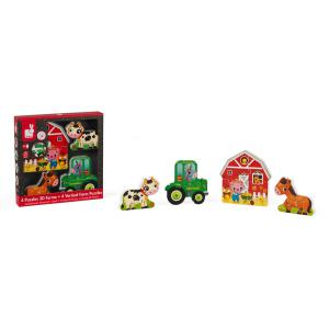 Janod - J07090 - Coffret 4 puzzles 3d ferme (376258)