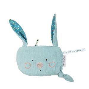 Moulin Roty - 665133 - Pochette lapin bleu Les Jolis trop beaux (377572)