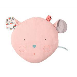 Moulin Roty - 665132 - Coussin tête souris rose Les Jolis trop beaux (377574)