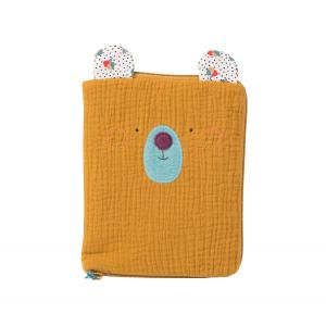 Moulin Roty - 665082 - Protège carnet de santé ours ocre Les Jolis trop beaux (377602)