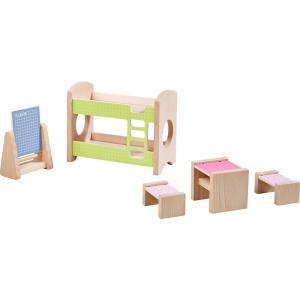 Haba - 303836 - Little Friends – Meubles pour maison de poupées Chambre d'enfant pour deux enfants (378024)