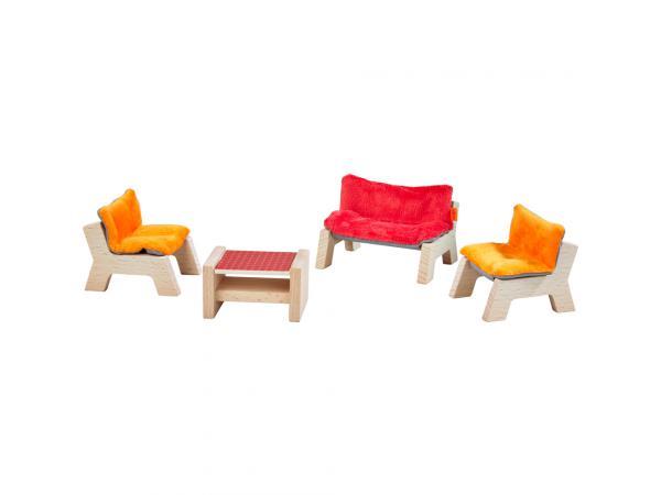 GOKI Maison de poupée mobilier pour le Jardin Mobilier Maison de poupée mobilier de jardin chaise longue divan NEUF