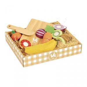 Vilac - 8106 - Jour de marché Fruits et légumes à découper - à partir de 2+ (378288)